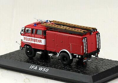 Atlas Feuerwehr IFA W-50 TLF 16 OVP und Neu in Vitrine. Maßstab 1:72