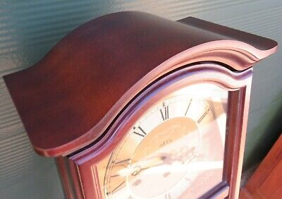 Attractive 8-Day AMS Westminster Chime Wall Clock in Mahogany Case 341/202 6