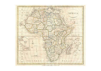Africa Map Clement Cruttwell 1799 Wall Art Poster Print 4