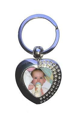 Personalised Keyring Custom Printed Heart Metal Photo Picture comes Gift boxed 2