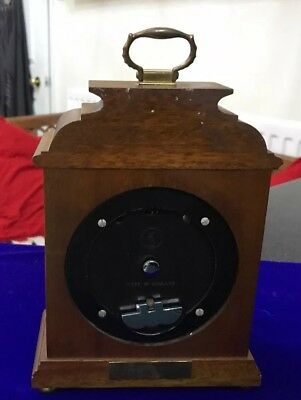 Vintage Garrard & Co Ltd London Elliot Mahogany 8 Day Oak Mantle Carriage Clock 9