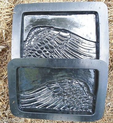 """Angel plaque plastic mold for plaster concrete mould 10/"""" x 3//4/"""""""