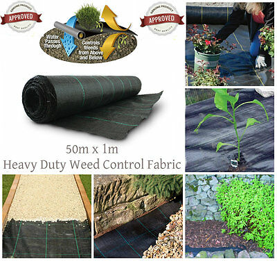 Heavy Duty Lined Weed Control Landscaping Fabric Ground Cover Membrane 100gsm