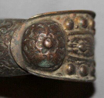 Antique Handcrafted Greek Crusader Bronze Fertility Bracelet