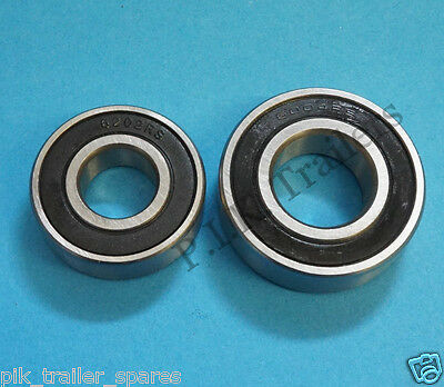 2 x Wheel Bearings for Daxara Trailer 106 107 127 136 137  #6202 6004 RS 2