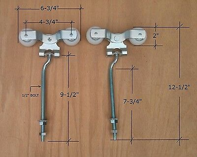Merveilleux 3 Of 7 Cannonball Bolt Delrin Trolley   Barn Door Rollers For Round Keyhole  Track