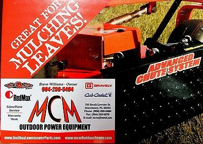 ADVANCED CHUTE SYSTEM Heavy Duty Discharge Control System for Zero Turn  Mowers