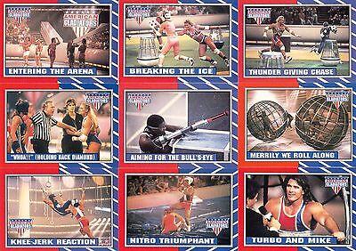 2 Complete 1991 American Gladiators TV Sticker Sets