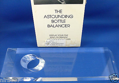 Retro Astounding VIN VALET Bottle Balancer Boxed Man Cave Bar VG - In Australia