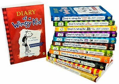 Diary of a Wimpy Kid Collection Jeff Kinney 12 Books Box Set Pack Double down 4