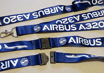 Lanyard AIRBUS A320 BLUE keychain neckstrap for pilot crew Lanyard