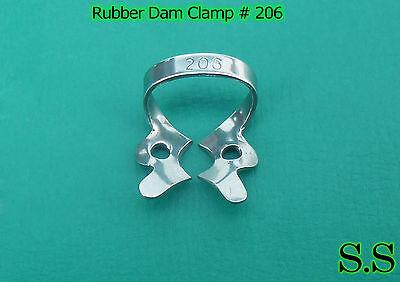 12 Pc Endodontic Rubber Dam Clamp #206 2