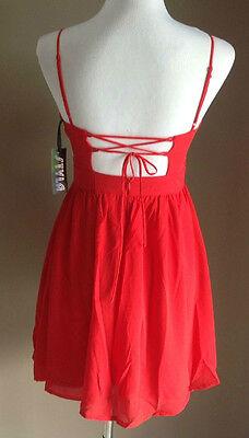 Bulk Lot x 7 NEW Dresses Red Chiffon Lace Up Back Sizes 6 - 12 Styla Label 5