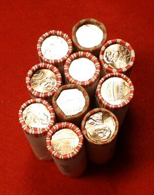 2010-P&d Lincoln Union Shield Cent Penny 2-50 Coin Rolls Red Bu Collector Gift 2