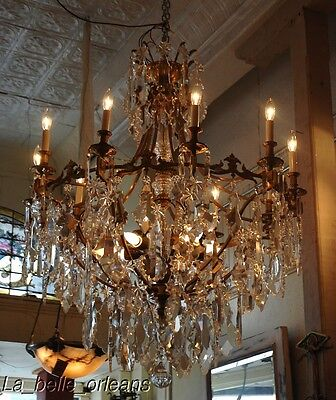 French Crystal Chandelier 15 Lights. 5 Ft Tall , Must See!! 2