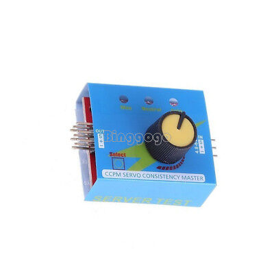 Multi Servo Tester 3CH ECS Consistency Speed Controler Power Channels CCPM 4