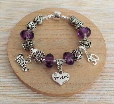 1 Of 2FREE Shipping Personalised BIRTHDAY Gifts Bracelet 15th 16th 18th 21st 30th Gift For Her