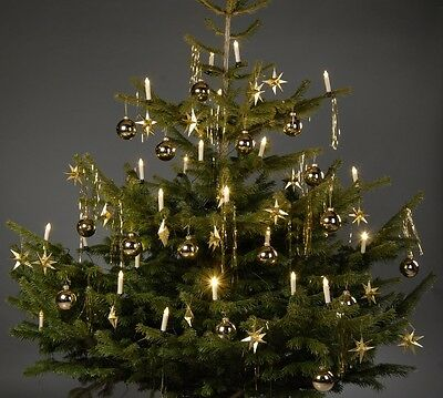 2 x LED Lichterkette Tannenbaum Metall Silber mit je 10 LEDs Lichtgirlande Tanne