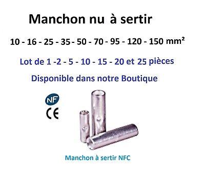 Cosse electrique à sertir 6 ou 10 ou 16 ou 25 ou 35 mm²  lot de 2 - 5 -10 pièces 5