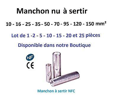 Raccord pour câble type manchon à sertir 10 - 16 - 25 mm² lot de 1-2-5-10 pièces 2