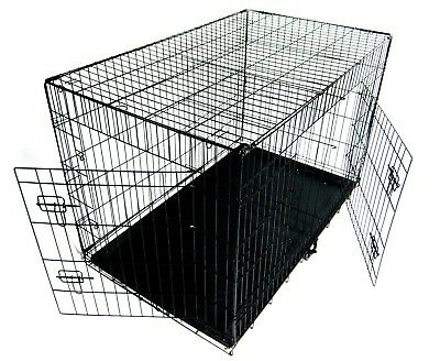 Folding Metal Dog Cage By Mr Barker Puppy Training Crates 5 sizes 24-42 Inch 6