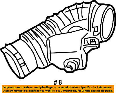 Infiniti Nissan Oem M35 Air Cleaner Rear Intake Duct Tube Hose Right