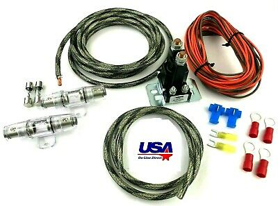 Snakeskin 8Ga. Auxiliary 80A Battery Isolator W/ Copper Cables Complete Kit Fuse 2