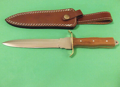 "FULL TANG DAGGER 203363 wood handle fixed blade knife 11 3/8"" overall PA3363 NEW 2"
