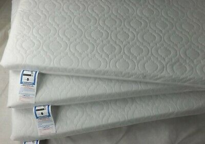 Extra Thick Travel Cot Mattress Fully Breathable Mattress With Quilted Cover 2