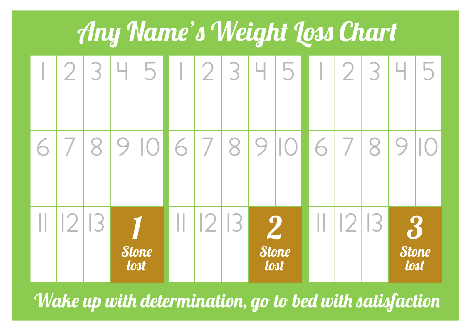 Personalised weight loss chart 3 stone laminated with 1 sheet of 3 of 5 personalised weight loss chart 3 stone laminated with 1 sheet of stickers nvjuhfo Image collections