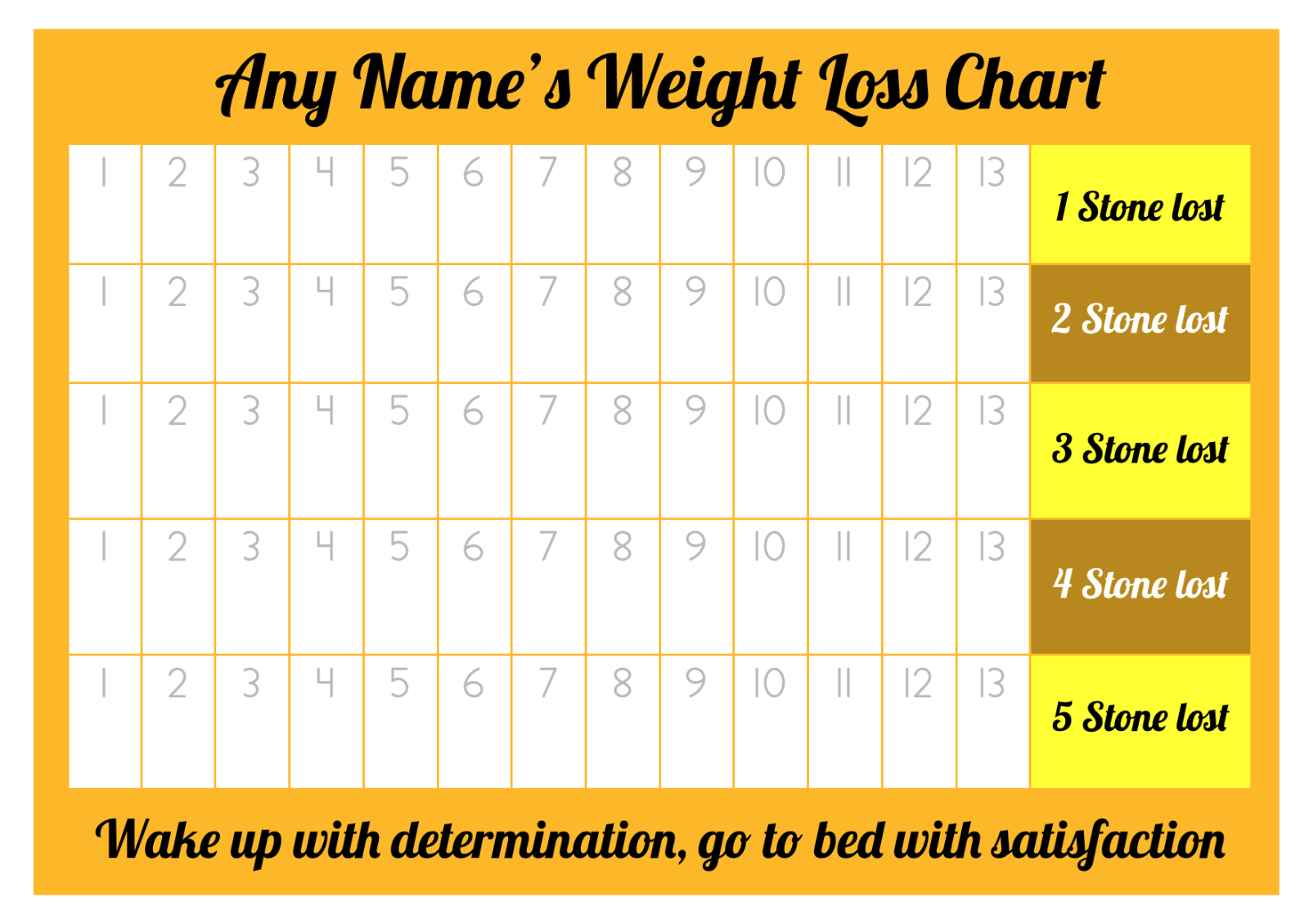 Personalised weight loss chart 5 stone laminated with 1 sheet of 2 of 5 personalised weight loss chart 5 stone laminated with 1 sheet of stickers nvjuhfo Image collections
