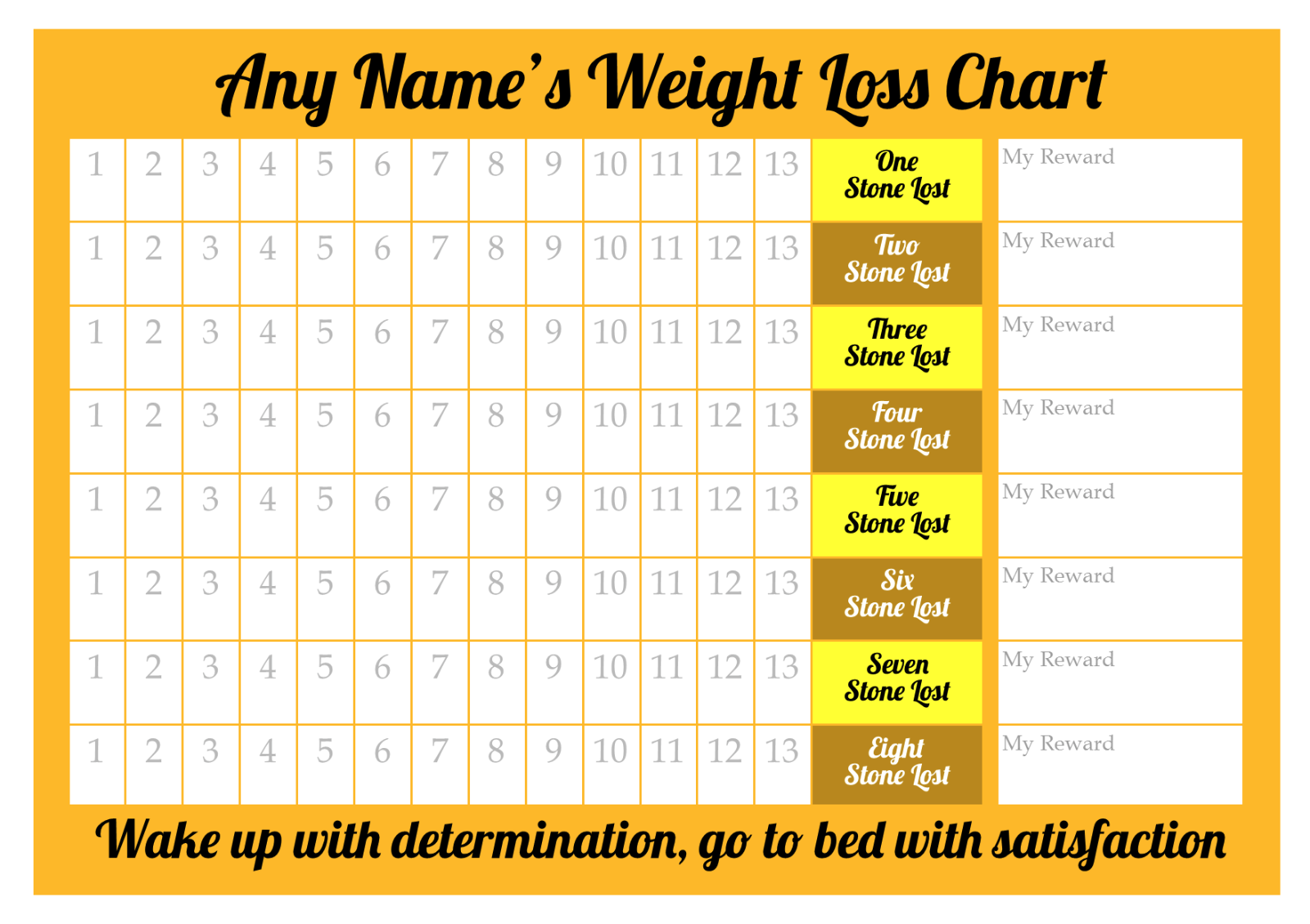 Personalised weight loss chart 8 stone laminated with 2 x sheet 3 of 5 personalised weight loss chart 8 stone laminated with 2 x sheet of stickers nvjuhfo Image collections