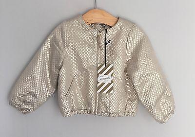 No Added Sugar Girls Amazing Gold Bomber Jacket Size 2-3 Years BNWT 10