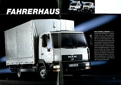 MAN Baustellenfahrzeuge Prospekt 2002 8//02 LKW Bauwirtschaft truck brochure