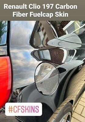 MK3 197,200 Sport RS Carbon Fiber Fuel Cap couverture peau 05-12 RENAULT CLIO