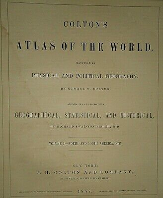 Vintage 1857 MAP ~ AUSTRALIA ~ Old Antique Original Colton's Atlas Map 2