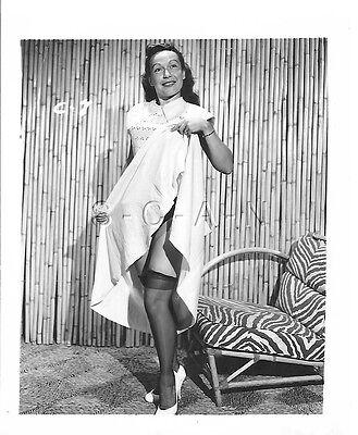 Original Vintage 1940s-60s Nude RP- Skirt Up- Stockings