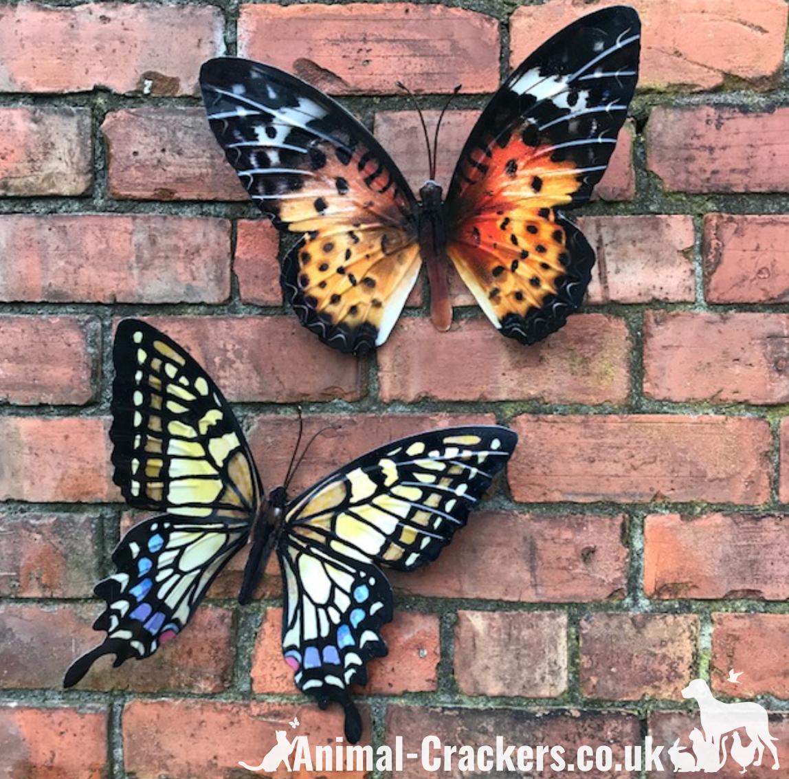 Butterfly Garden Ornament Wall Art Shudehill Home Decoration Metal Large 35cm