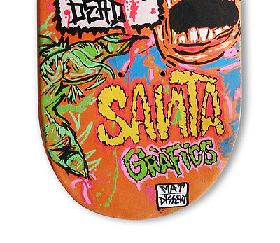 "skateboard by @matdisseny - skate art recycled deck ""Back from dead"""