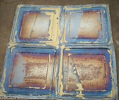 "SALE Antique Iridescent 24"" Ceiling Tin Tile Carnival Canvas Elegant Chic Frame 3"