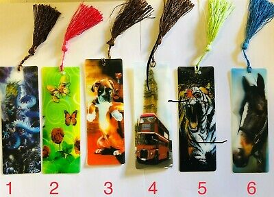 3 D Lenticular Assorted Bookmarks With Long Tassel Gift 3