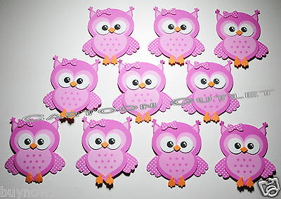 10 Pc Baby Shower Favors Gifts Pink Owl Decoration Centerpiece Foam