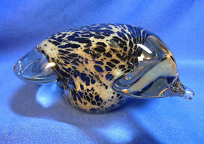 Vintage Murano Italy Glass Bird Figurine sitting #^ 3
