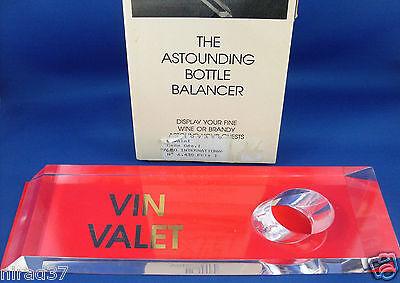 VIN VALET Bottle Balancer Boxed unusual Retro Man Cave feature - In Australia