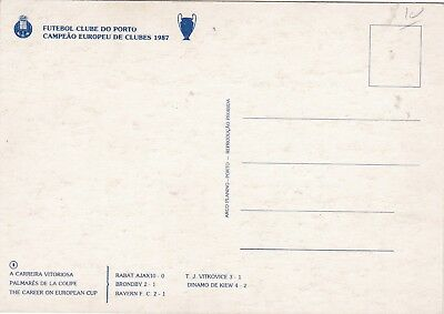 Calcio/Football Cartolina sq. PORTO 1987 originale 2