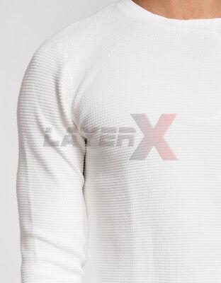 Mens 2 pc Thermal Set Cotton Rich Shirts Pants Long Johns Waffle 2