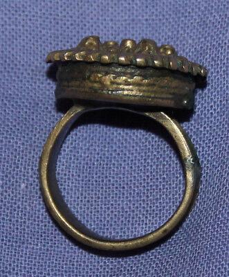 Antique Medieval crusader bronze ring