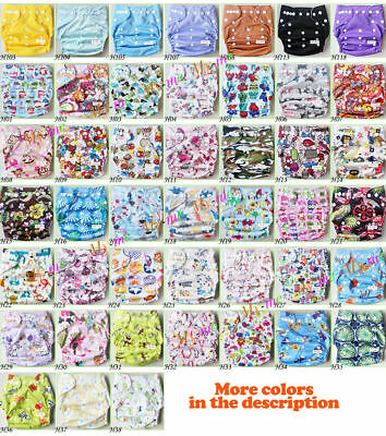 Baby One Size Cloth Diaper Reusable Pocket Nappy Newborn Adjustable GIRL COLORS 2