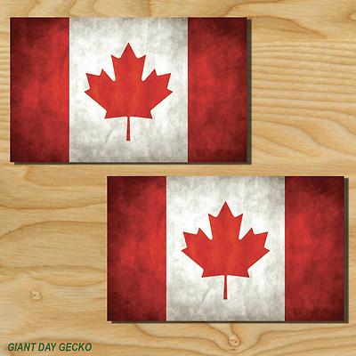 2 Canadian Flag Cornhole DecalsREDTwo Vinyl Stickers Corn Hole Board