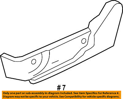 Lincoln FORD OEM 07-12 MKZ Seat Track-Valance Left 7H6Z5462187BC